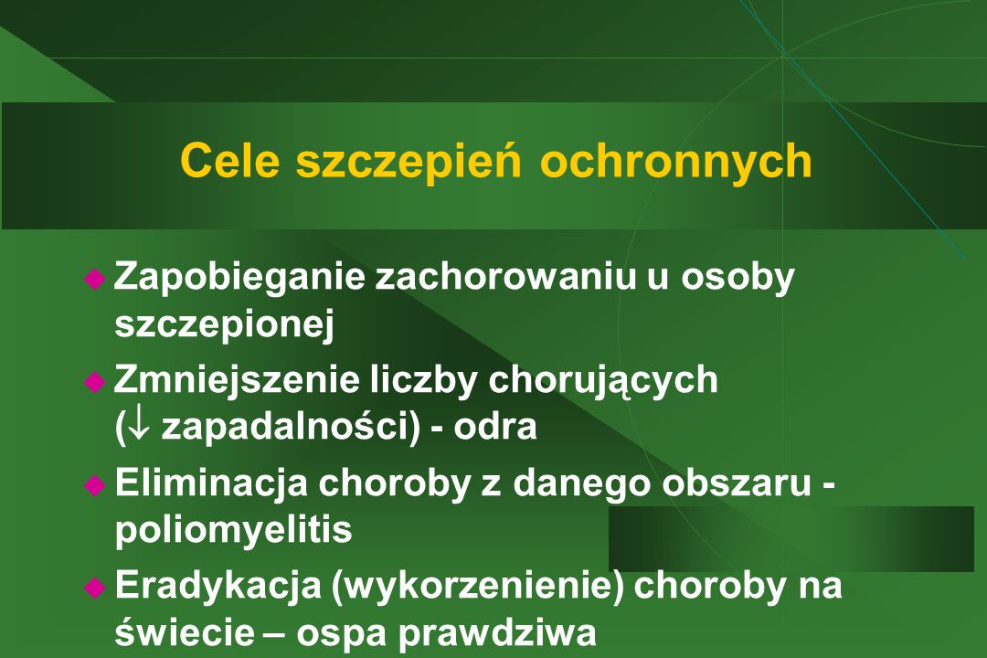 Cele szczepień ochronnych