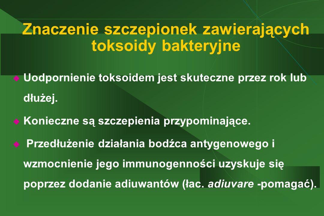 Znaczenie szczepionek zawierających toksoidy bakteryjne