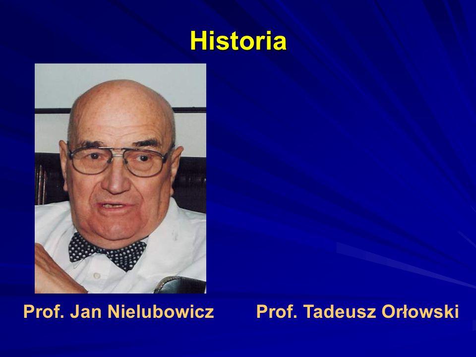 Historia Prof. Jan Nielubowicz Prof. Tadeusz Orłowski