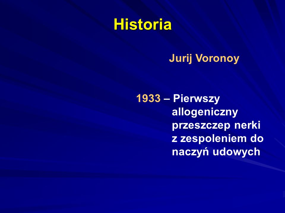 Historia Jurij Voronoy