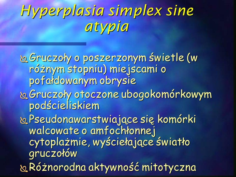 Hyperplasia simplex sine atypia