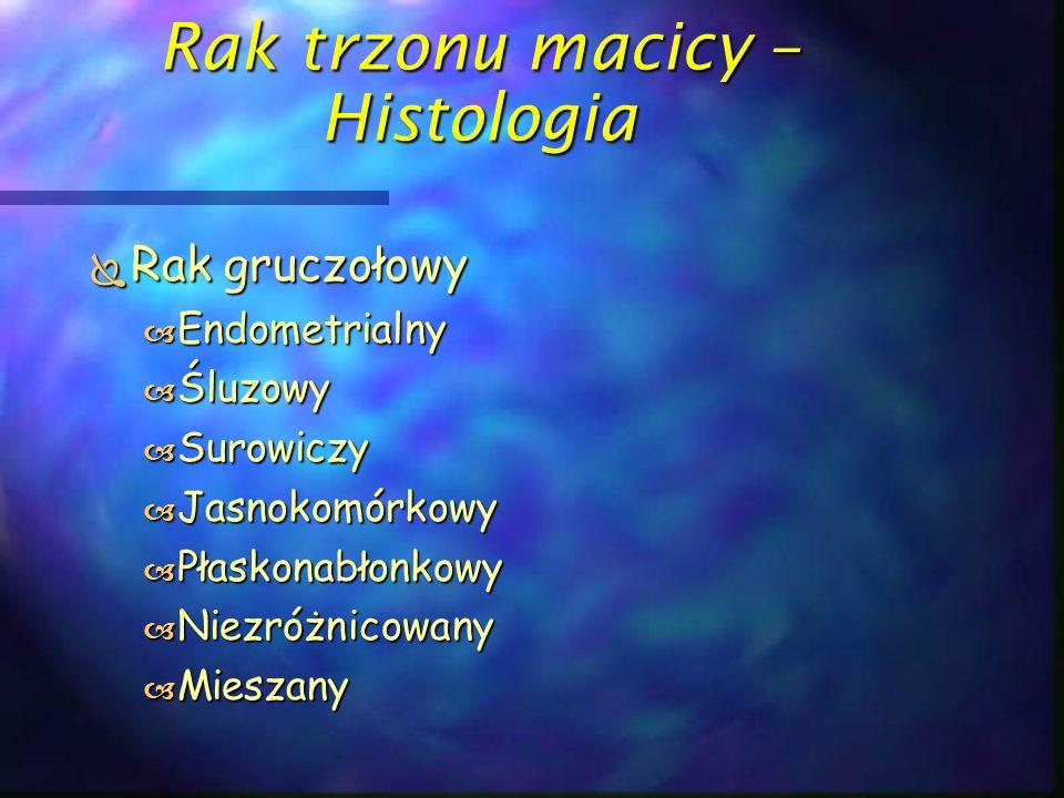 Rak trzonu macicy – Histologia