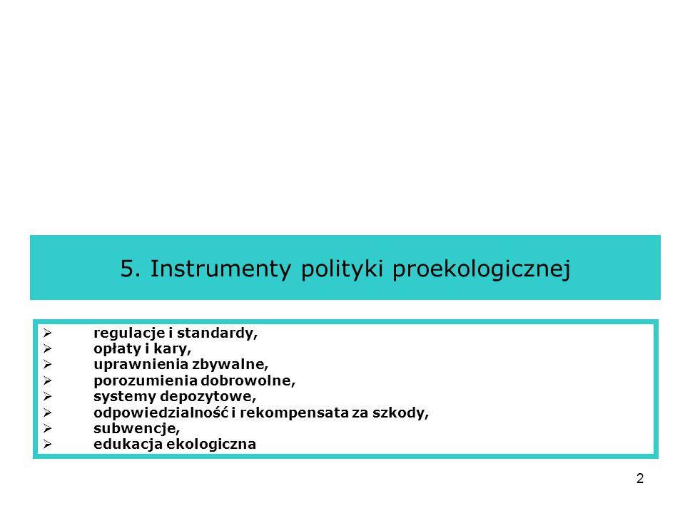 5. Instrumenty polityki proekologicznej