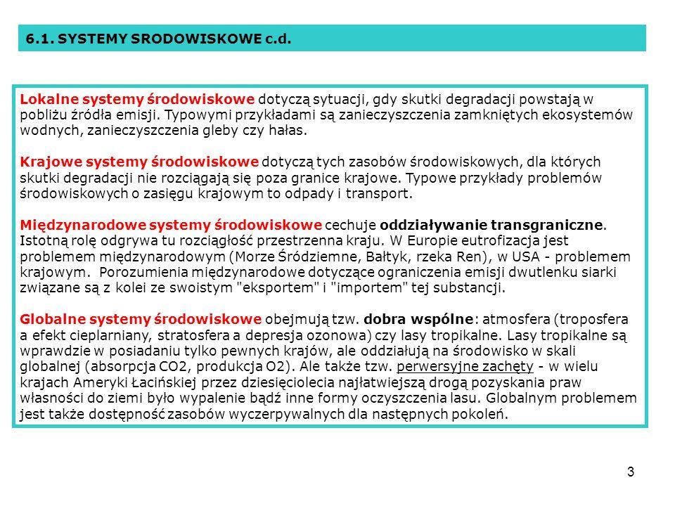 6.1. SYSTEMY SRODOWISKOWE c.d.