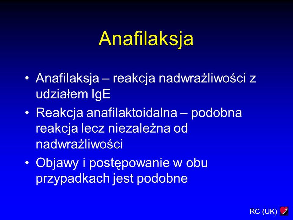 Anafilaksja Anafilaksja – reakcja nadwrażliwości z udziałem IgE