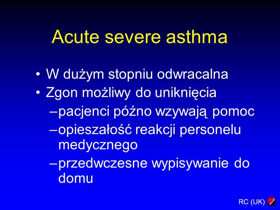 Acute severe asthma W dużym stopniu odwracalna