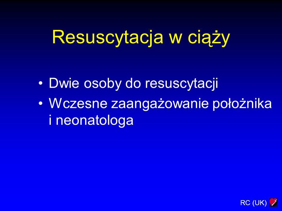 Resuscytacja w ciąży Dwie osoby do resuscytacji