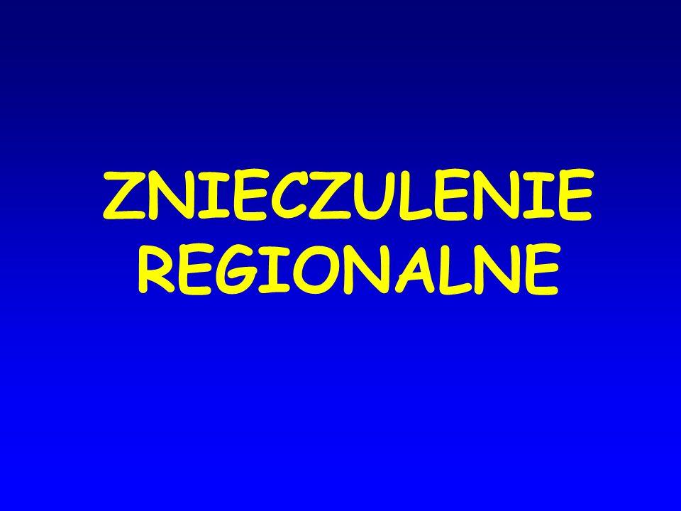 ZNIECZULENIE REGIONALNE