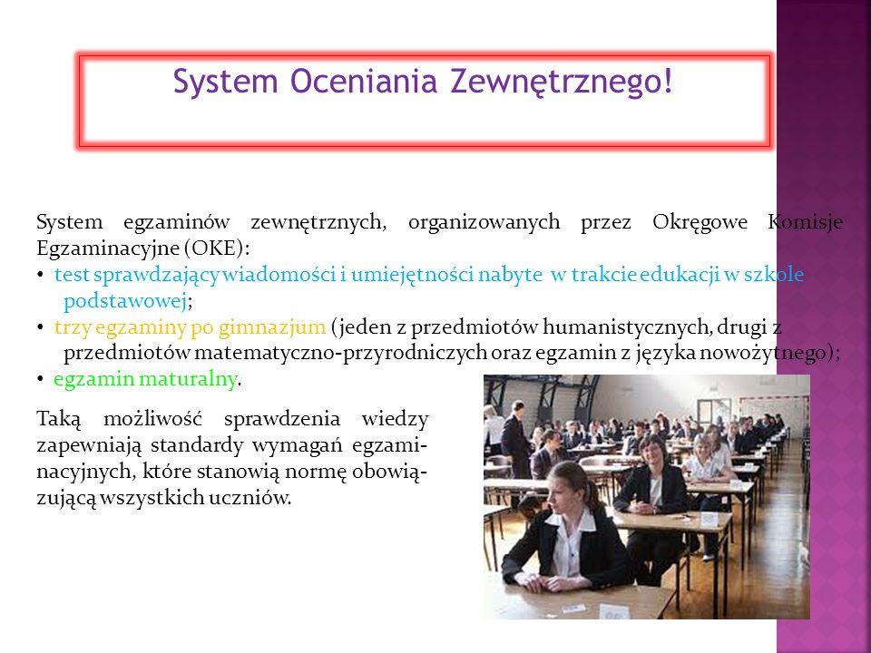 System Oceniania Zewnętrznego!