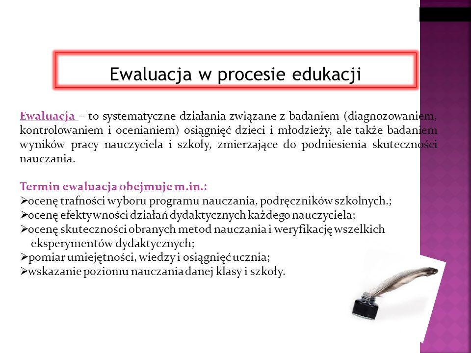 Ewaluacja w procesie edukacji