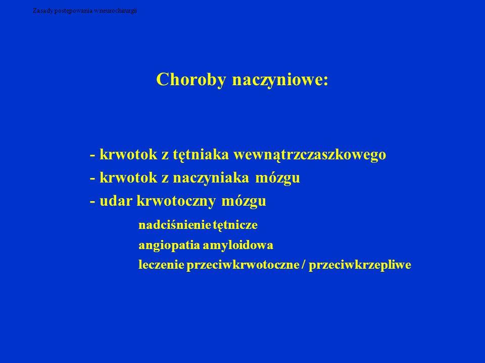 Zasady postępowania w neurochirurgii