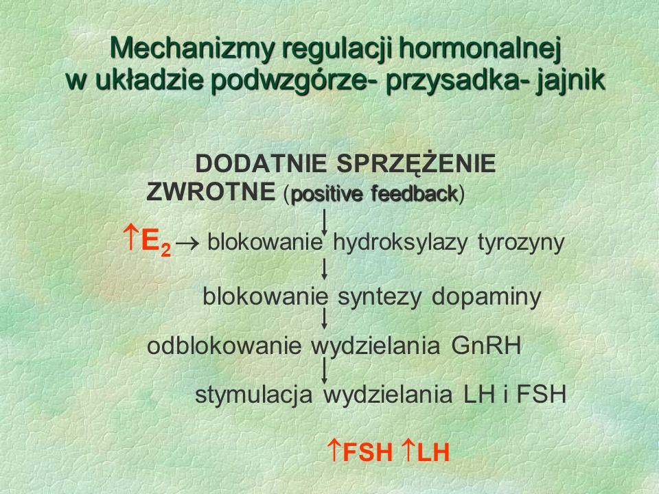 E2  blokowanie hydroksylazy tyrozyny