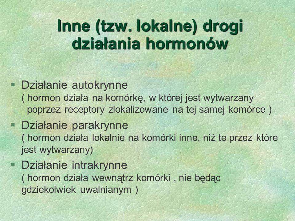 Inne (tzw. lokalne) drogi działania hormonów