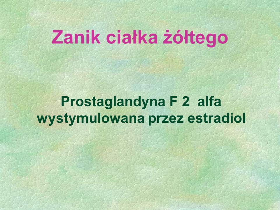 Prostaglandyna F 2 alfa wystymulowana przez estradiol