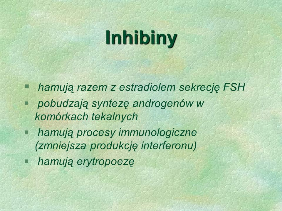 Inhibiny hamują razem z estradiolem sekrecję FSH