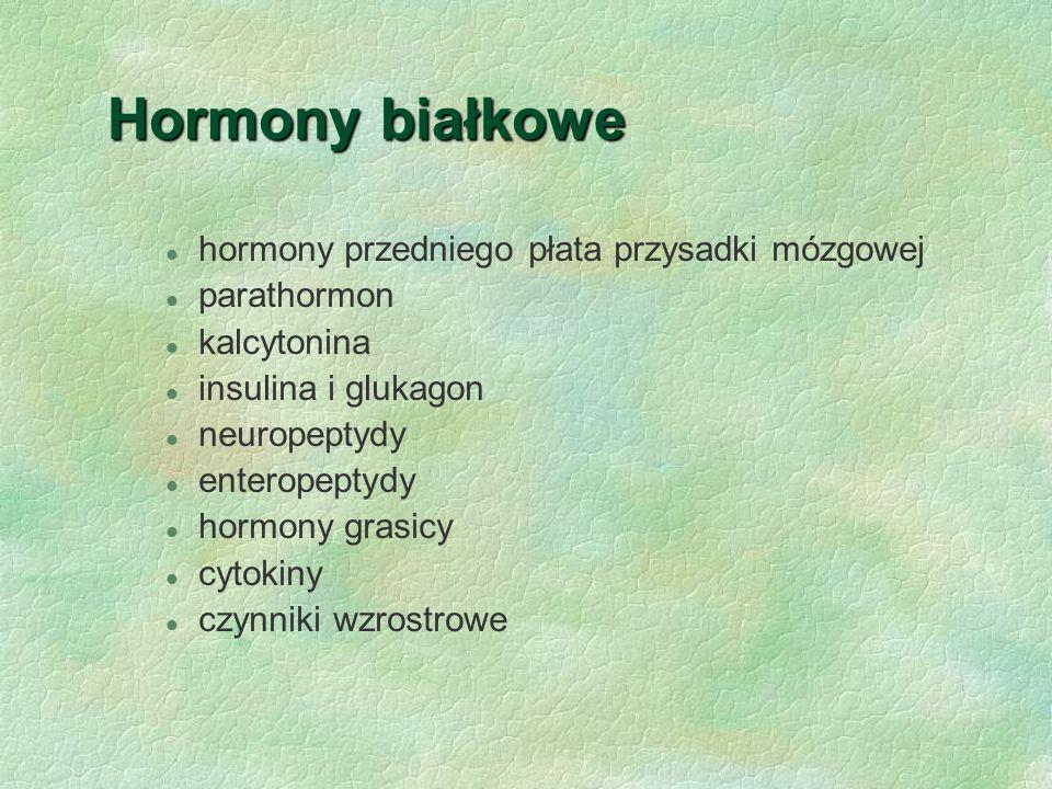 Hormony białkowe hormony przedniego płata przysadki mózgowej