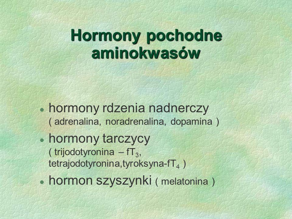 Hormony pochodne aminokwasów