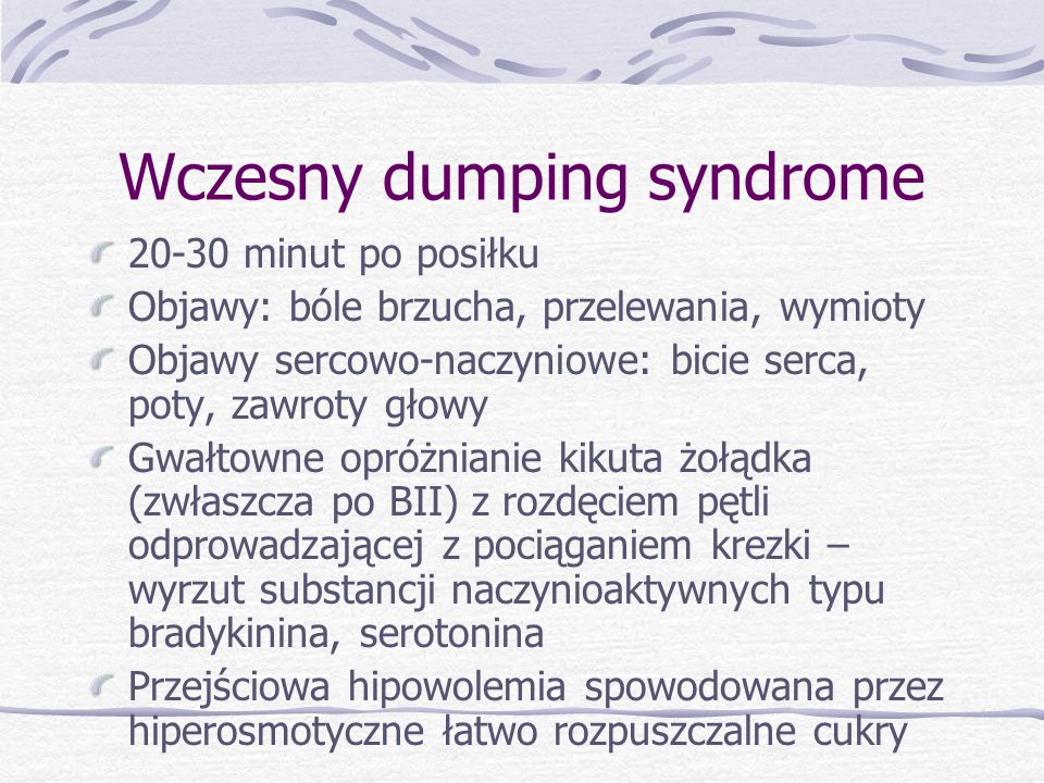 Wczesny dumping syndrome