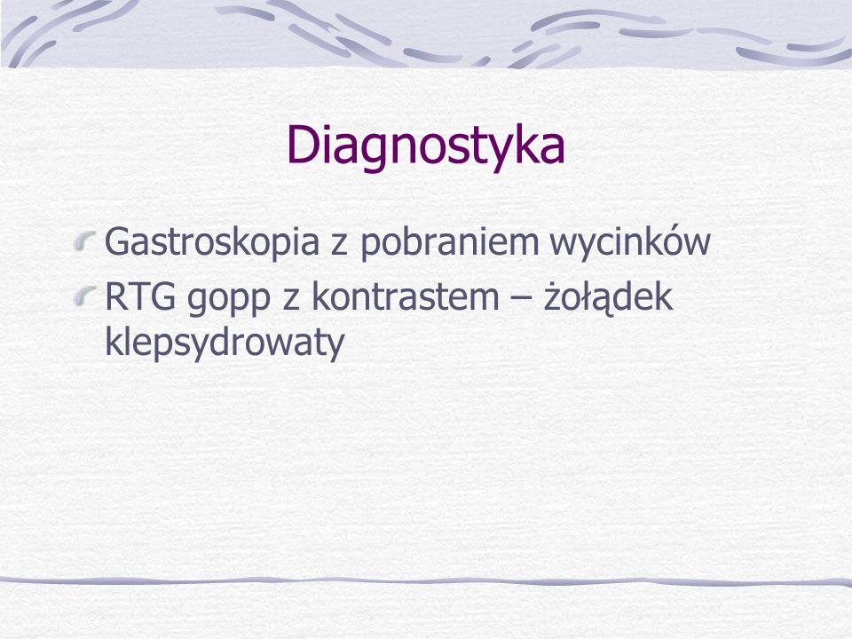 Diagnostyka Gastroskopia z pobraniem wycinków