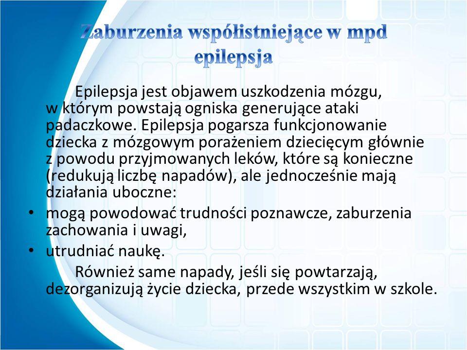 Zaburzenia współistniejące w mpd epilepsja