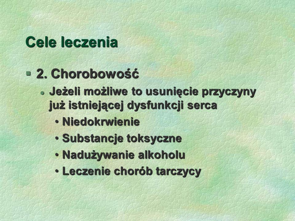 Cele leczenia 2. Chorobowość