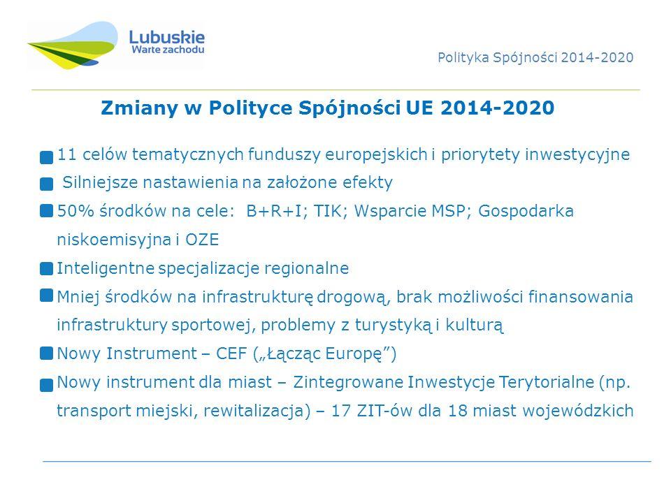 Zmiany w Polityce Spójności UE 2014-2020