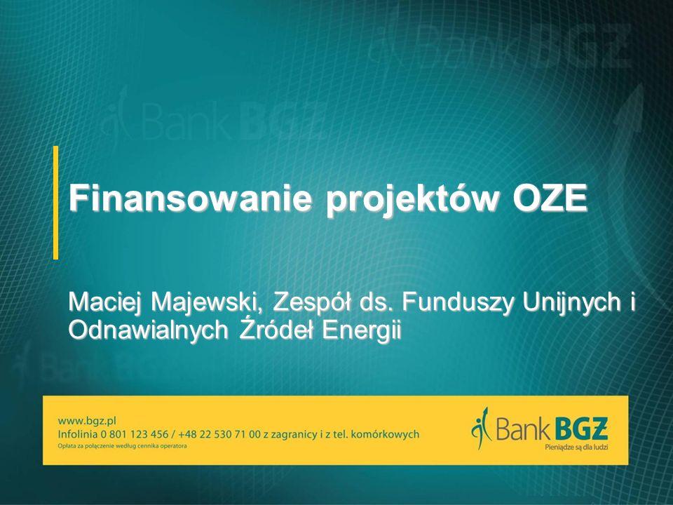 Finansowanie projektów OZE