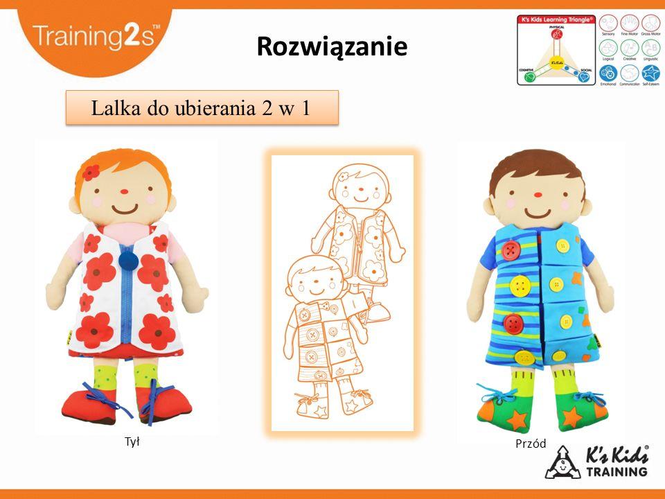 Rozwiązanie Lalka do ubierania 2 w 1 Tył Przód