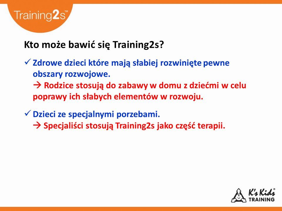 Kto może bawić się Training2s