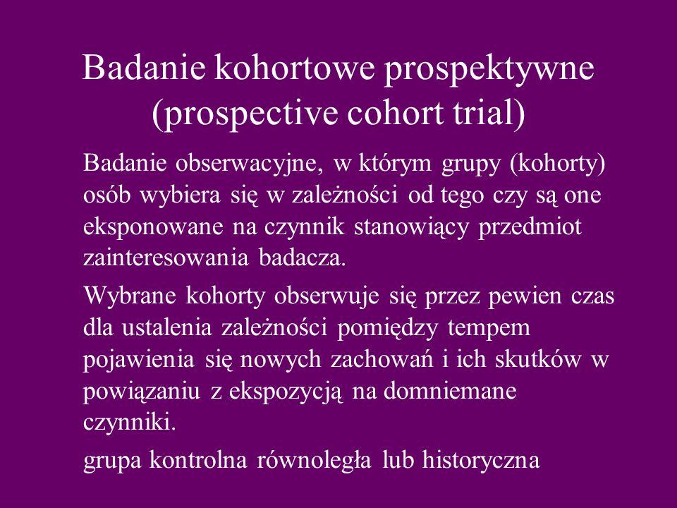 Badanie kohortowe prospektywne (prospective cohort trial)