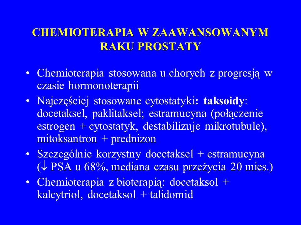 CHEMIOTERAPIA W ZAAWANSOWANYM RAKU PROSTATY