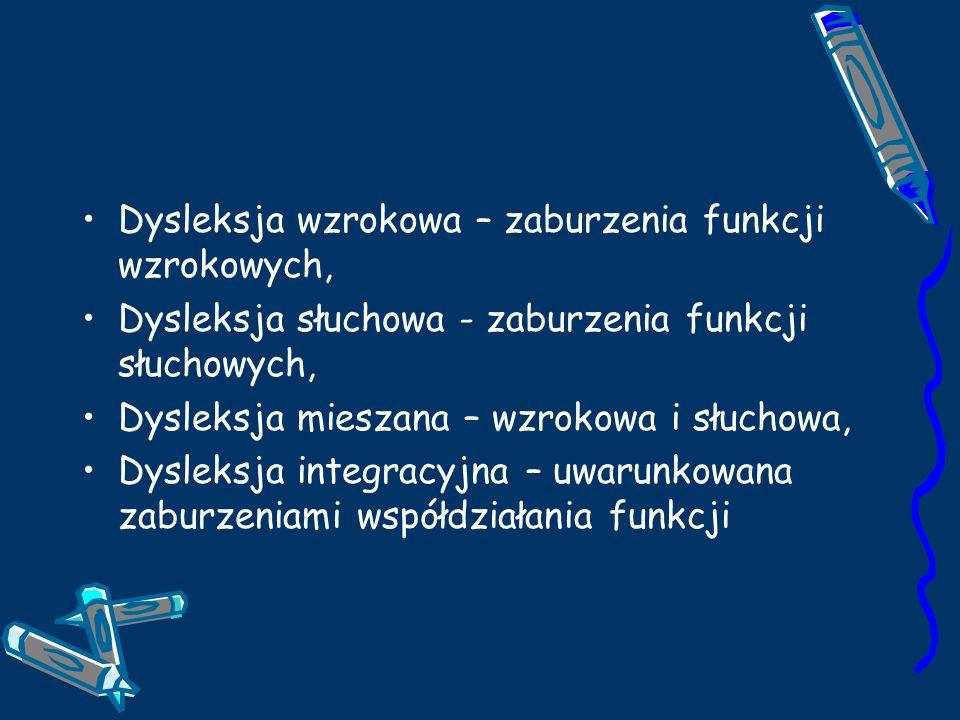 Dysleksja wzrokowa – zaburzenia funkcji wzrokowych,