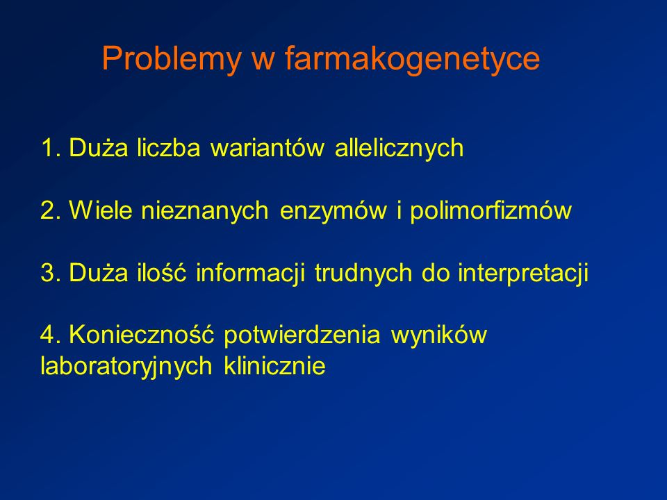 Problemy w farmakogenetyce
