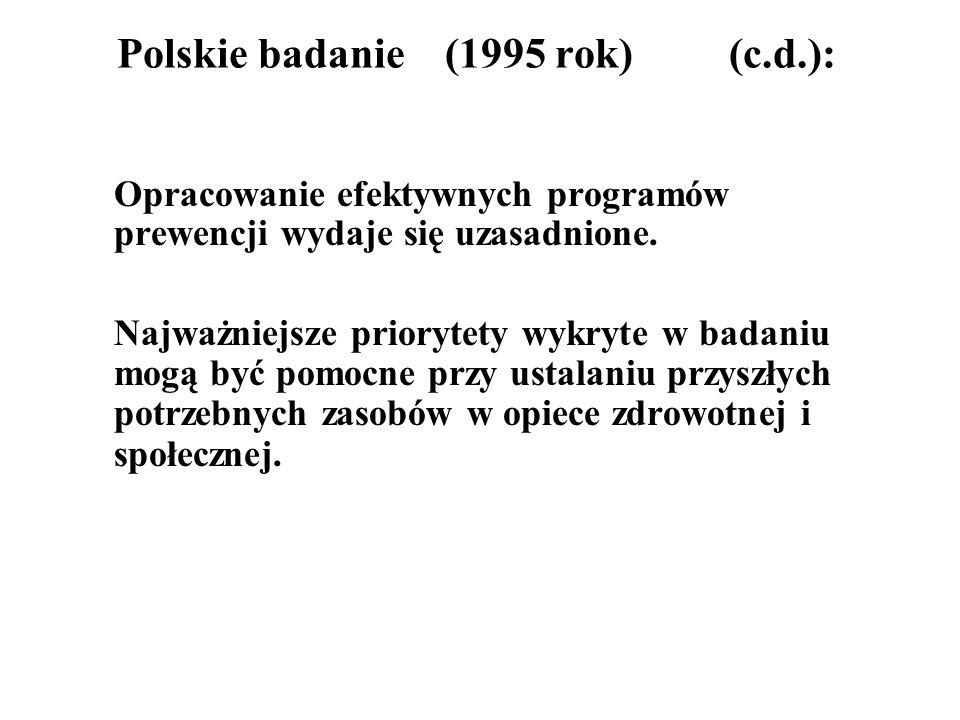 Polskie badanie (1995 rok) (c.d.):