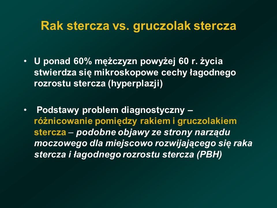 Rak stercza vs. gruczolak stercza