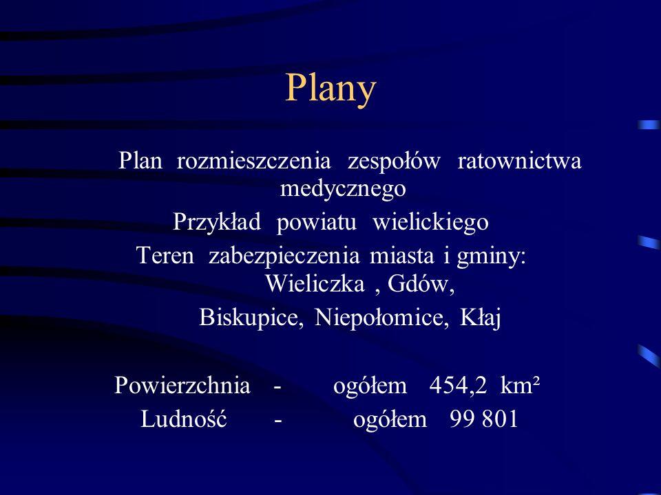 Plany Plan rozmieszczenia zespołów ratownictwa medycznego