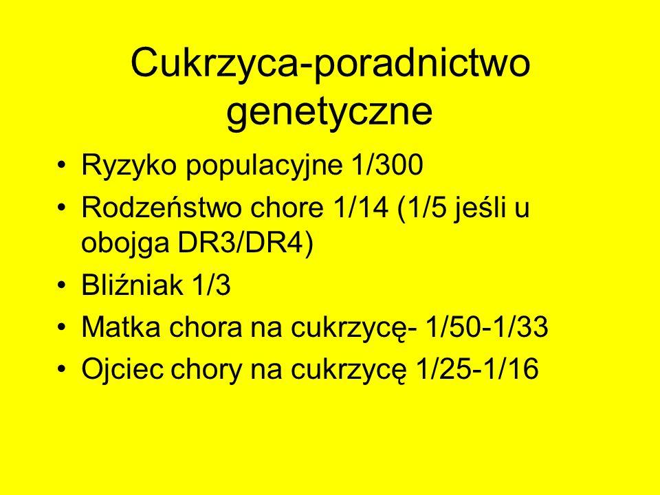 Cukrzyca-poradnictwo genetyczne
