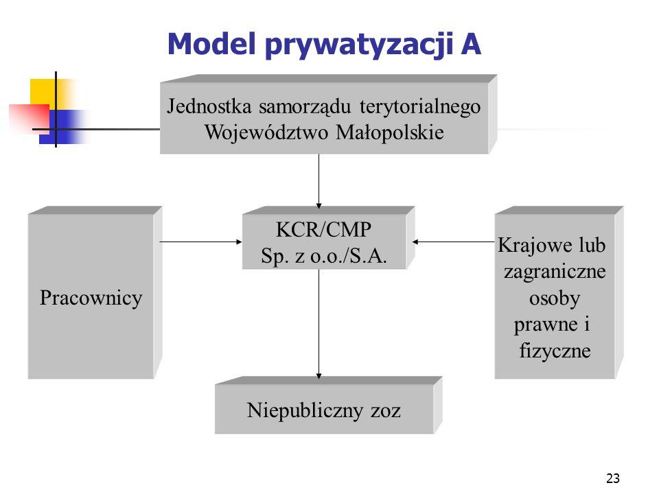 Model prywatyzacji A Jednostka samorządu terytorialnego
