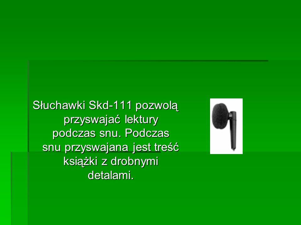Słuchawki Skd-111 pozwolą przyswajać lektury podczas snu