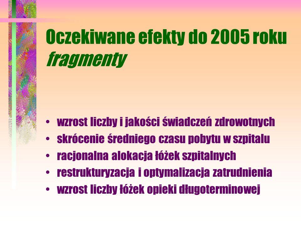 Oczekiwane efekty do 2005 roku fragmenty