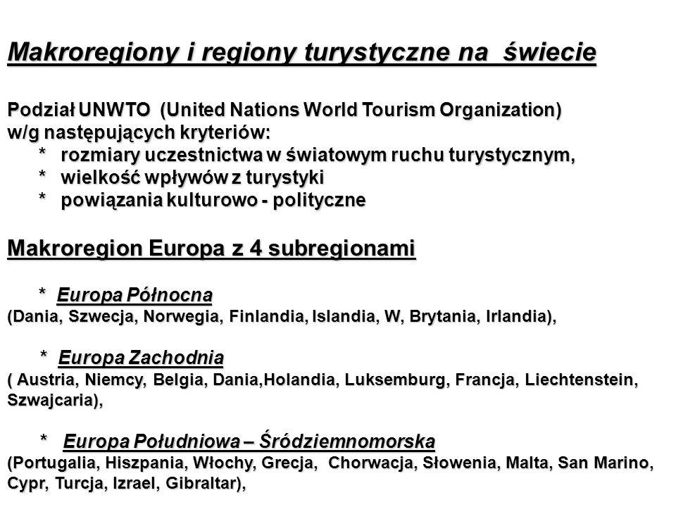 Makroregiony i regiony turystyczne na świecie
