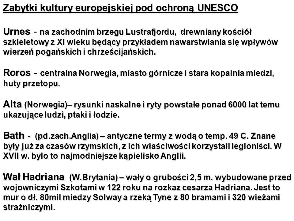Zabytki kultury europejskiej pod ochroną UNESCO