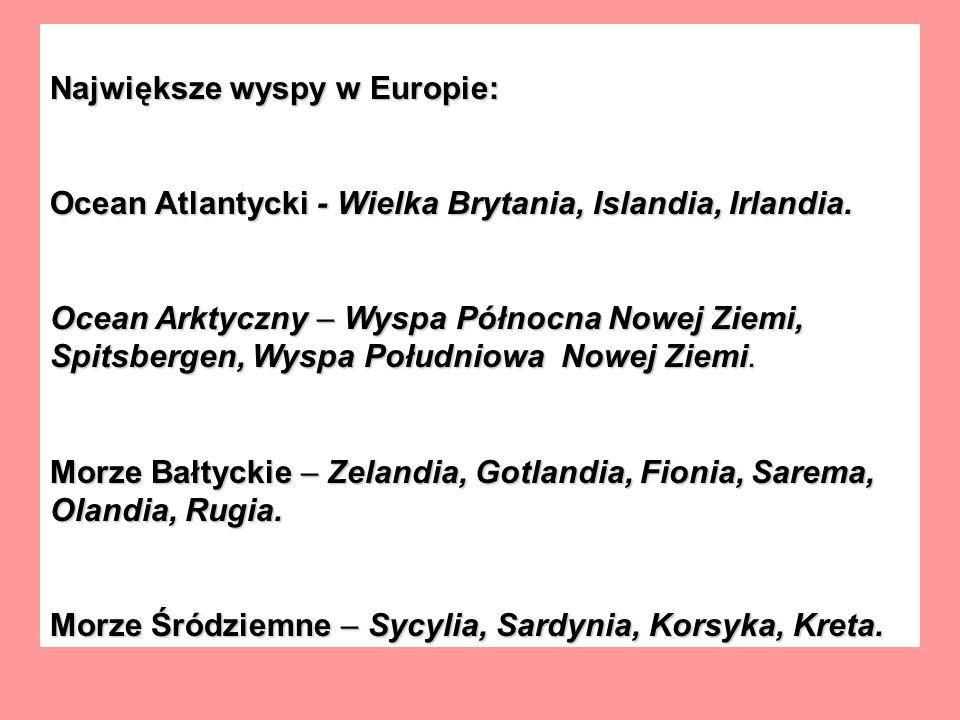 Największe wyspy w Europie: