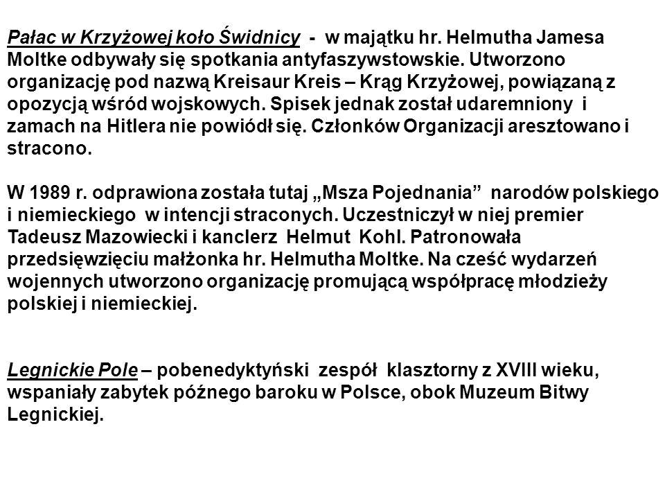Pałac w Krzyżowej koło Świdnicy - w majątku hr