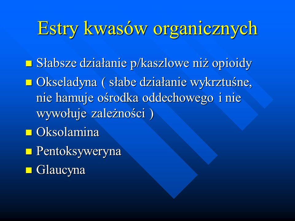 Estry kwasów organicznych