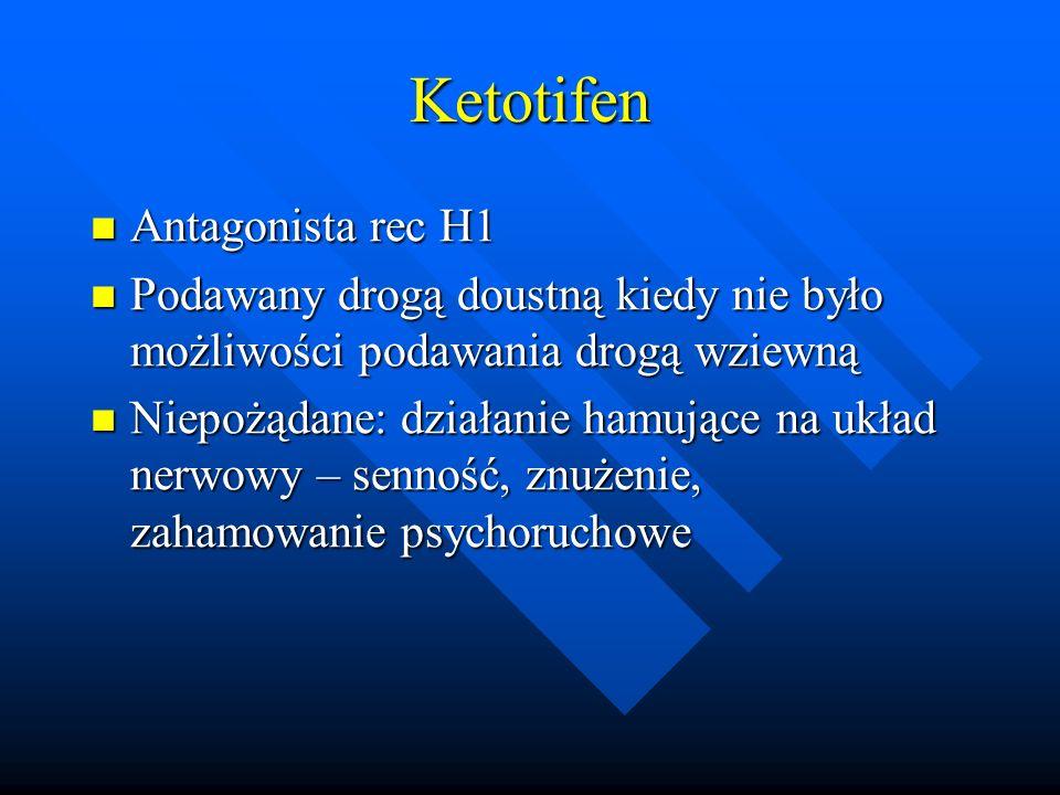 Ketotifen Antagonista rec H1