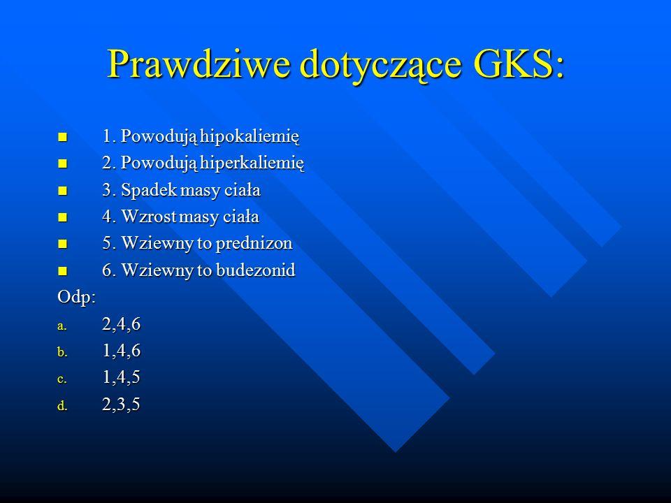 Prawdziwe dotyczące GKS: