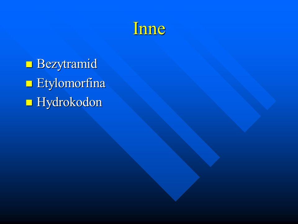 Inne Bezytramid Etylomorfina Hydrokodon