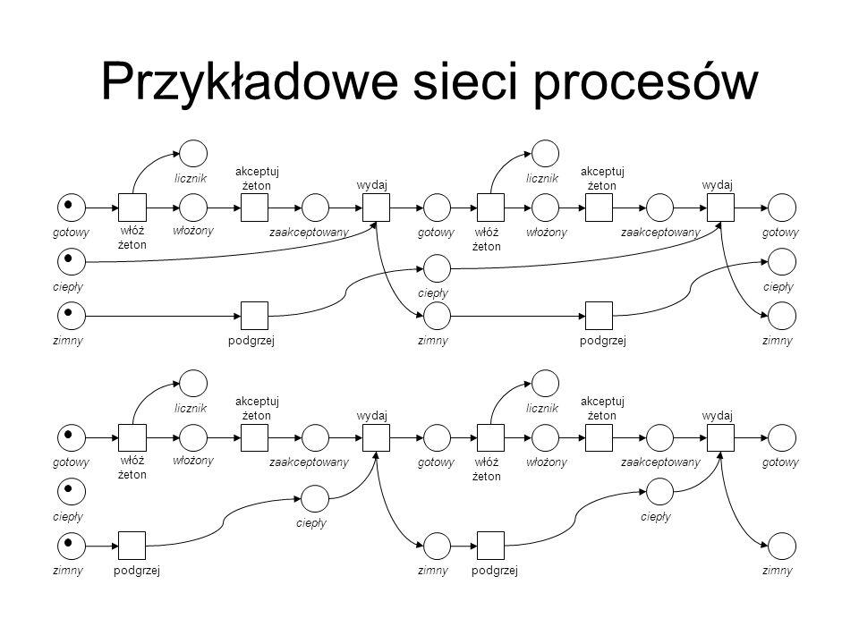 Przykładowe sieci procesów