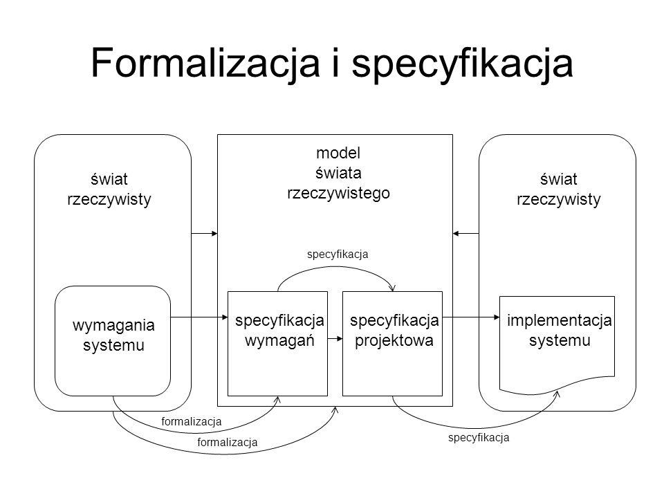 Formalizacja i specyfikacja